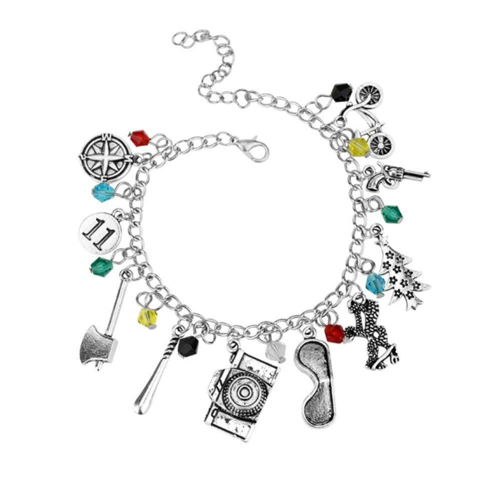 f235d5e51 Amazon.com: Stranger Things Themed Charm Bracelet: Clothing