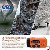 Asucway Hand Crank Radio, NOAA Weather Radio with