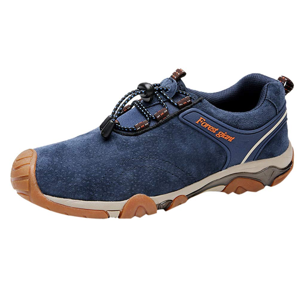 Goutique Hiking Shoes for Men Trail Running Sneakers Lightweight Athletic Trekking Boots Breathable Shoes Cotton Shoes by Goutique
