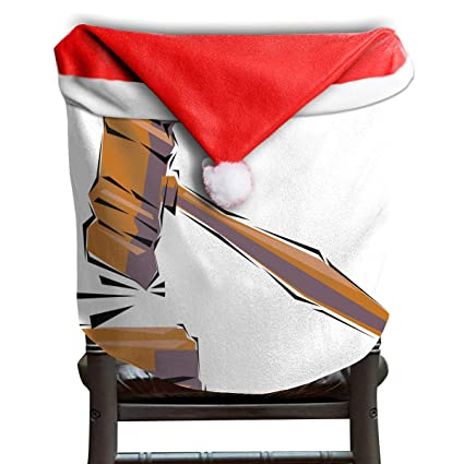 Amazon Com Lovebea Santa Hat Chair Covers Standing In Judgment