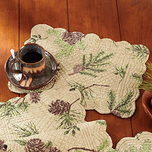 (Black Forest Decor Pinecone Valley Rectangle Placemat)