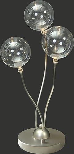 Premium – Lámpara LED de mesa (transparente, altura 44 cm, forma de bola