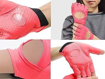 Guantes Gimnasio para Mujer Levantamiento de Pesas Palmas Medio Dedo Yoga Mancuernas Deportivos (Color : Pink): Amazon.es: Deportes y aire libre