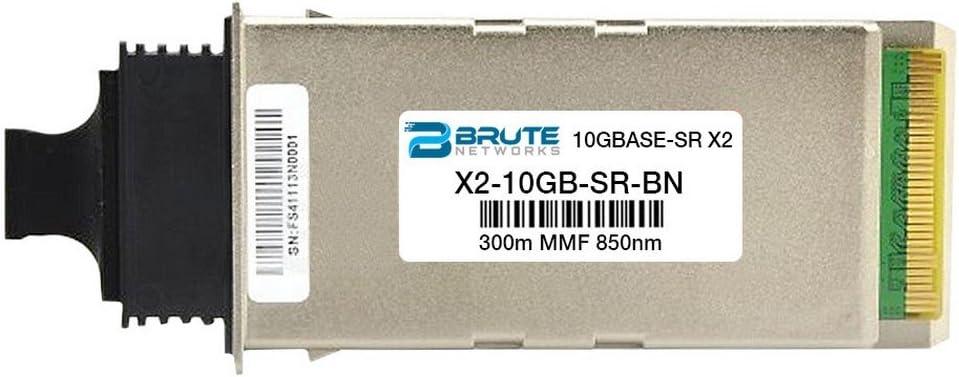 10GBASE-SR 300m 850nm X2 Transceiver Brute Networks X2-10GB-SR-BN Compatible with OEM PN# X2-10GB-SR