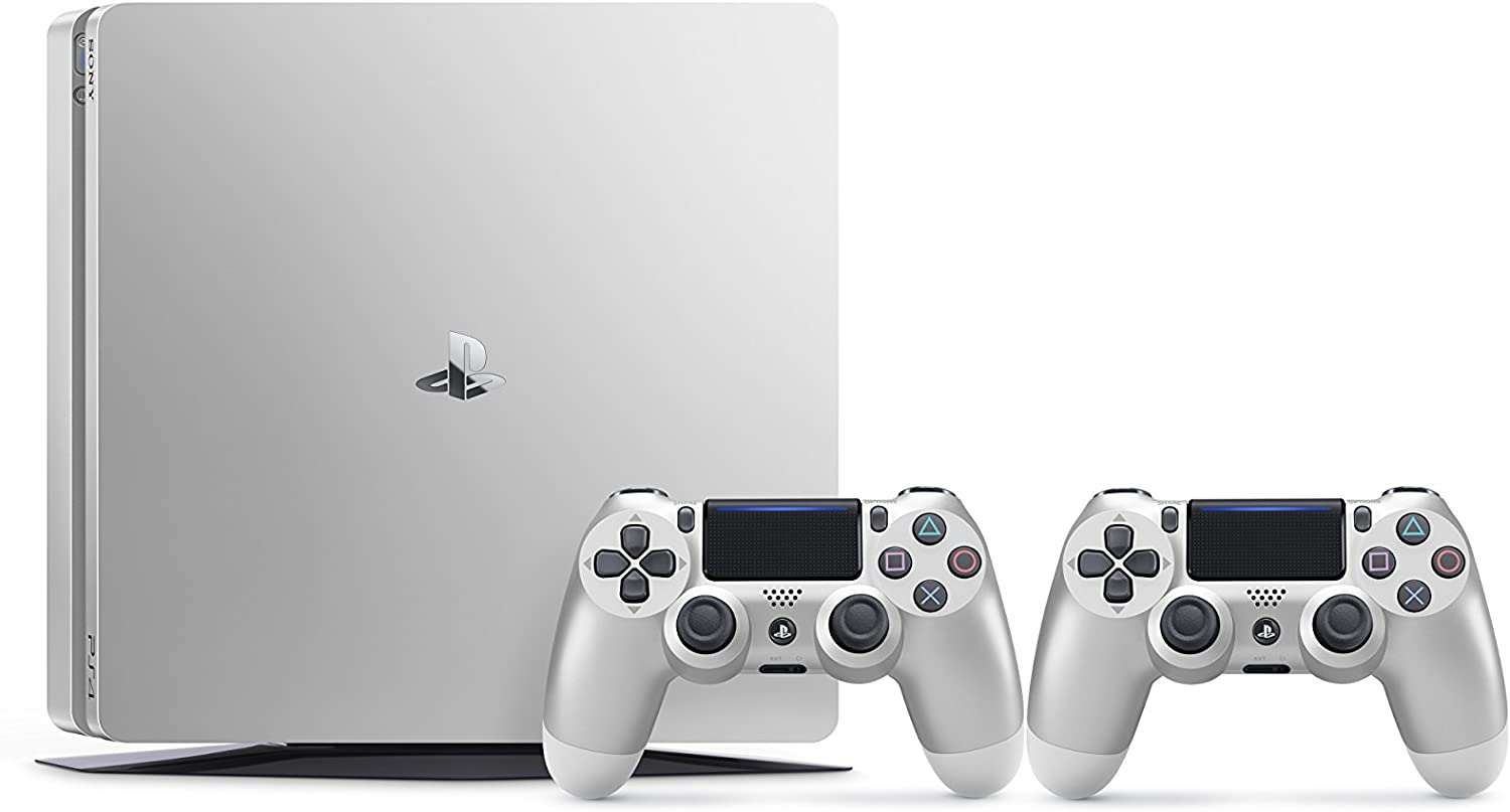 PlayStation 4 (PS4) - Consola De 500 GB, Color Plateado + 2 Mandos ...