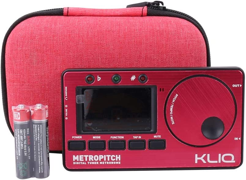 blue Metronome Tuner Aenllosi Hard Carrying Case for KLIQ MetroPitch