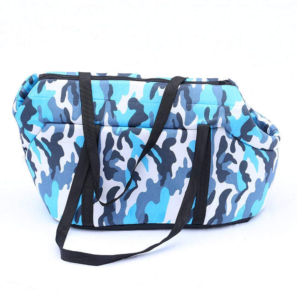 bluee S bluee S ZIOFV Package Camouflage Dog Cat Pet Sling Carrier Bag Portable Foldable Pet Shoulder Crossbody Bags