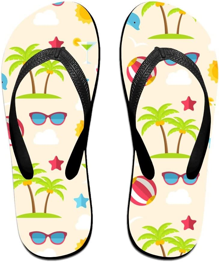 LXP FZD Unisex Beach Flip Flops Flexible Summer Non-Slip Thongs Slippers Sandals