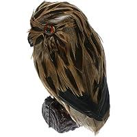 Blesiya Fake Artificial Owl Bird Feathered Realistic Garden Home Ornament