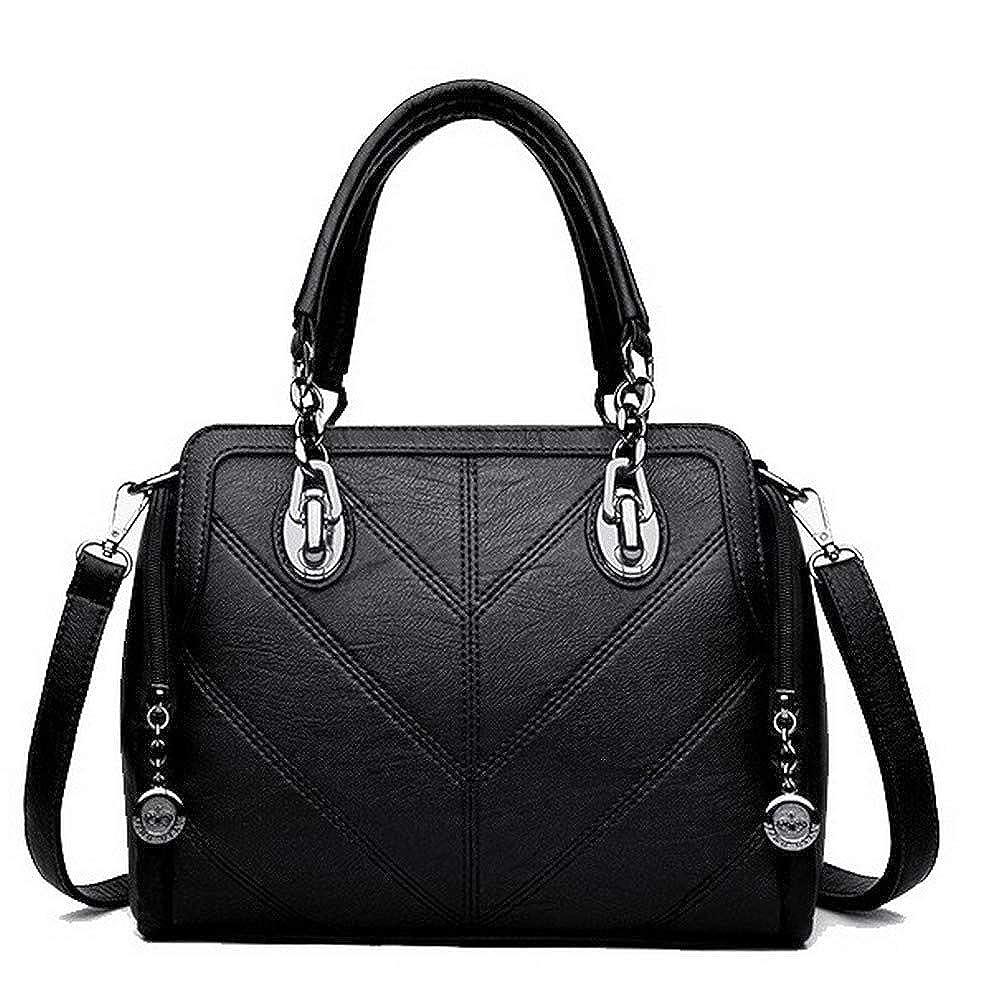 Black WeiPoot Women's Fashion Crossbody Bags Pu Zippers Shoulder Bags,EGHBI182288