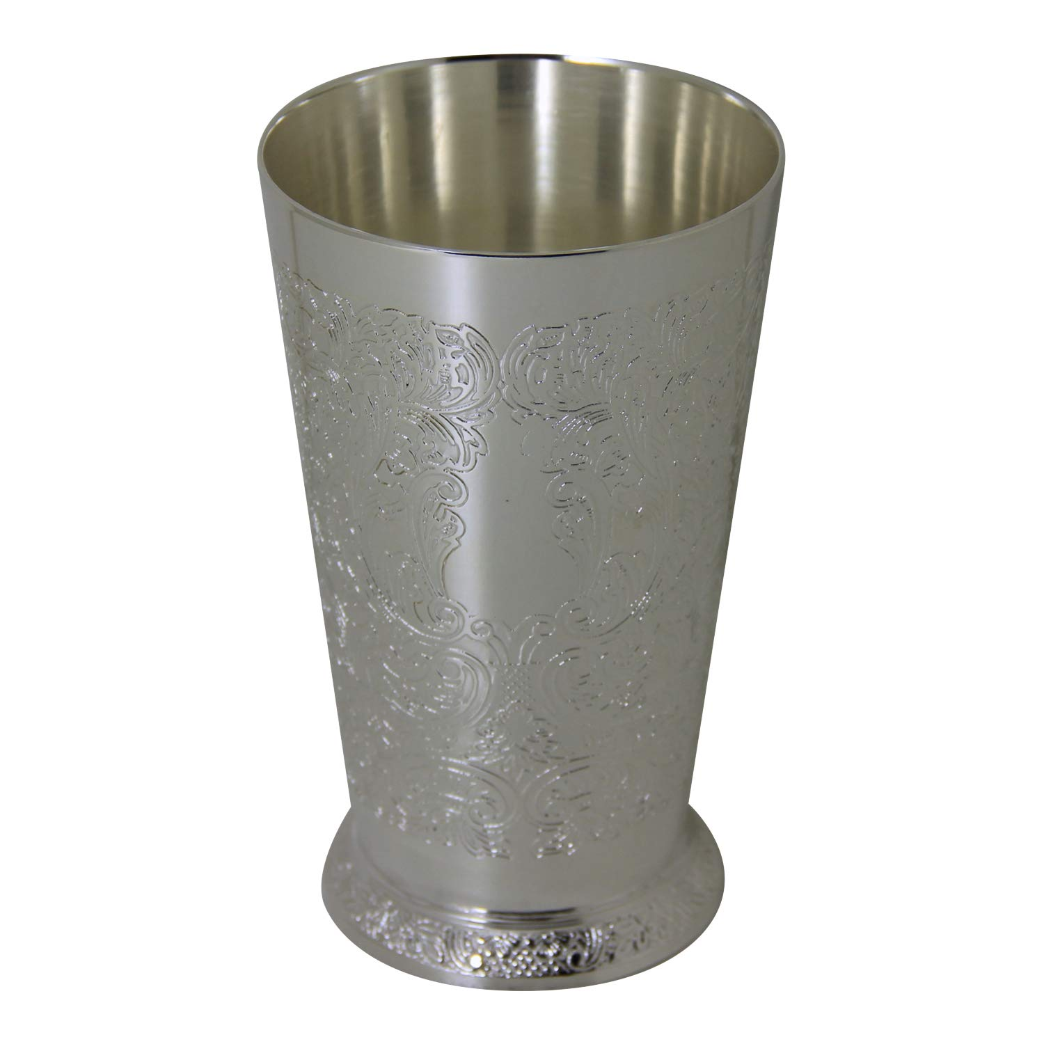 Engraved Mint Julep Silver Plate 5.75''h