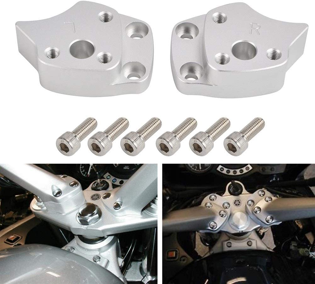 Yuanmei Moto Manubrio Riser Spacer Fit Kit for Yamaha FJR1300 FJR 1300 2001 2002 2003 2004 2005 Handle Bar Riser Mount Morsetto