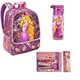Disney Store Rapunzel Backpack water bottle Zip-up supply kit & stationery set