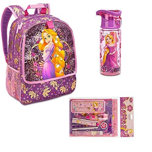 Disney Store Rapunzel Backpack water bottle Zip-up supply kit & stationery set by Disney