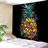 YOUSA Colorful Pineapple Tapestry Tropical Beach Wall Art Home Decor 58''x79''