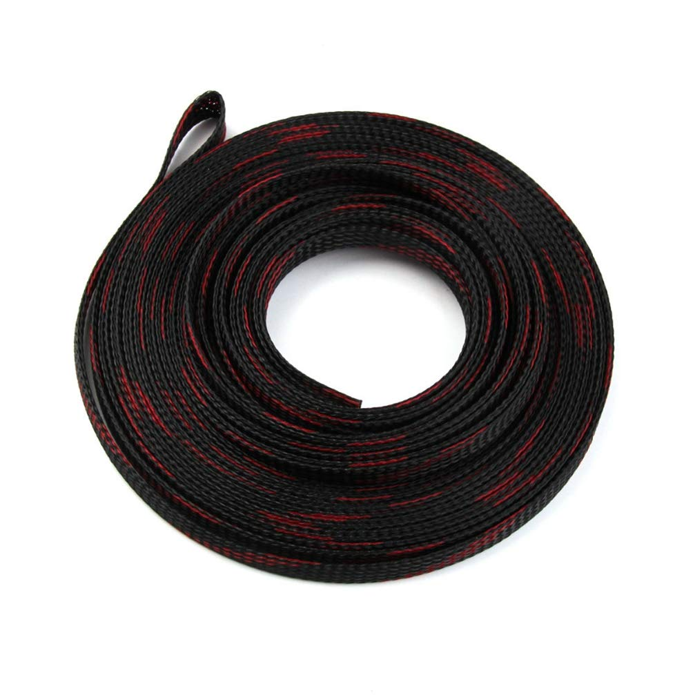 10m 8mm Cable Sleeve Snakeskin Mesh Wire Wire Protecting Tight PET Nylon Braided Cable Sleeving Mesh Shock Expandable 150%