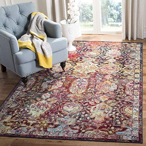 Safavieh Crystal Collection CRS505F Boho Chic Oriental Distressed Non-Shedding Stain Resistant Living Room Bedroom Area Rug