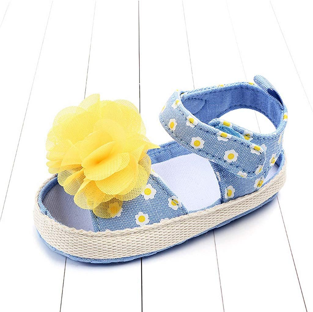 Voberry Baby Girls Beach Sandals Toddler Floral Bow Single Shoes