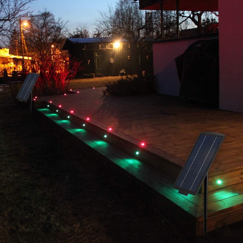 SUBOSI Treppen Bodeneinbauleuchten Aussen 1W /Ø45mm IP67 Wasserdicht Einbaustrahler Terrasse K/üche Garten Led Lampe 1er, 1*Kaltes Wei/ß