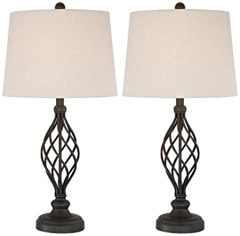 Good Annie Iron Scroll Table Lamps Set Of 2