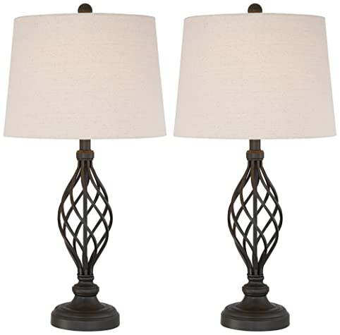 Annie iron scroll table lamps set of 2 amazon annie iron scroll table lamps set of 2 mozeypictures Gallery
