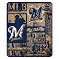 MLB Milwaukee Brewers Strength Printed Fleece Throw, 50-inch by 60-inch