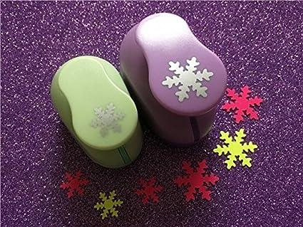 Fascola Crafts Punch Set 8mm 15mm 25mm Paper Punches 3pcs//Set Snowflake