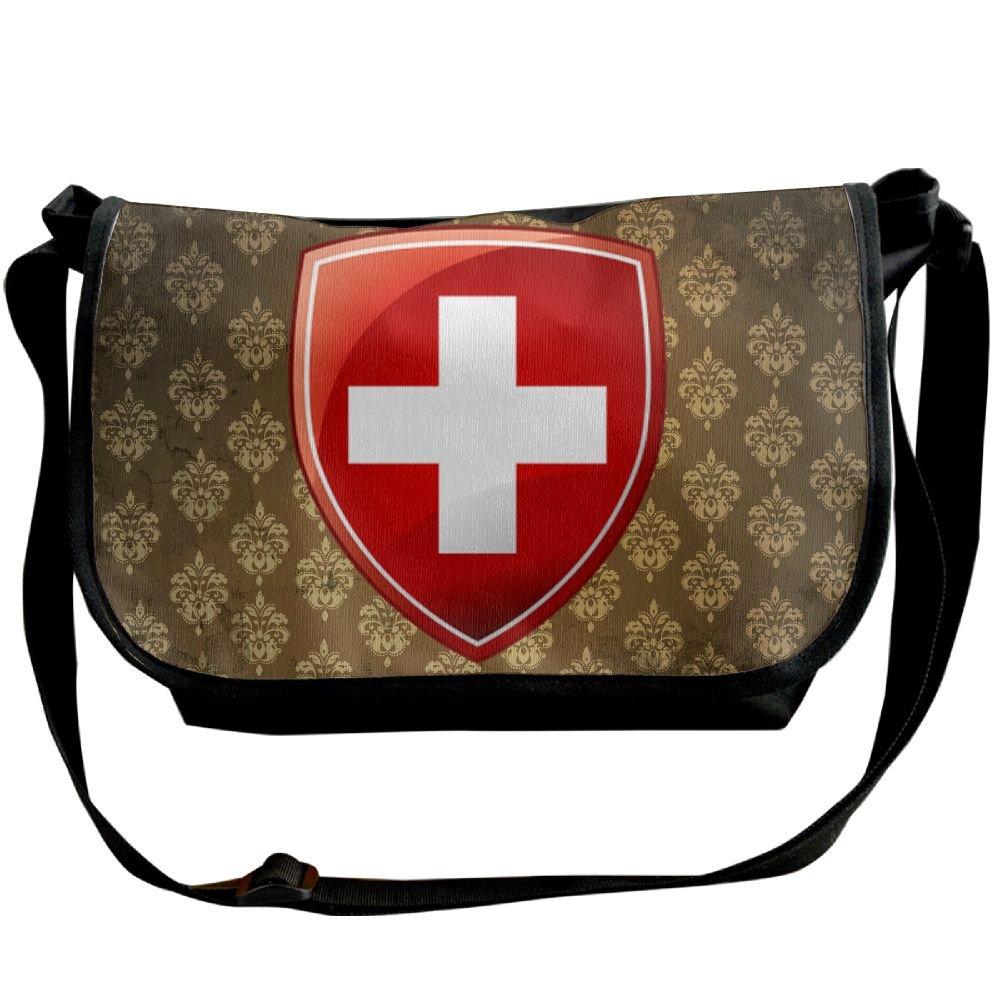 Lov6eoorheeb Unisex Coat Of Arms Of Switzerland Wide Diagonal Shoulder Bag Adjustable Shoulder Tote Bag Single Shoulder Backpack For Work,School,Daily