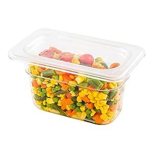 Cold Food Pan Lid - Plastic Cold Food Storage Container Lid - 1/9 Size - 1ct Box - Met Lux - Restaurantware