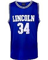 JOLI SPORT Men's Basketball Jersey Jesus Shuttlesworth 34 Lincoln High School Basketball Jersey S-XXXL Blue
