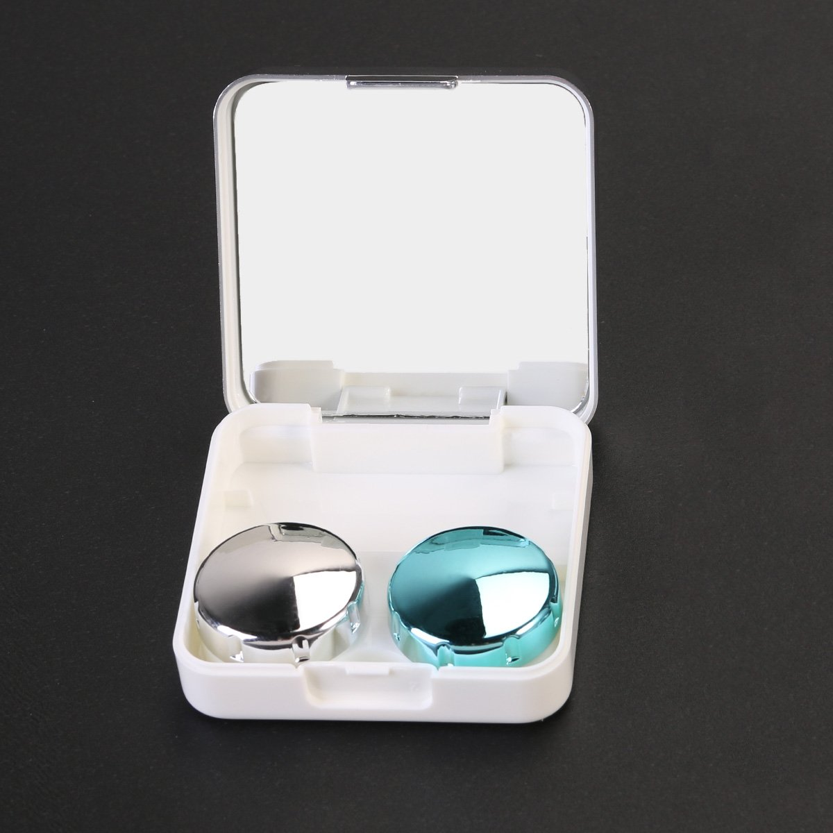 ULTNICE Travel Contact Lens Case Mini Box Container Contact Lens Holder (Silver white) by ULTNICE (Image #3)