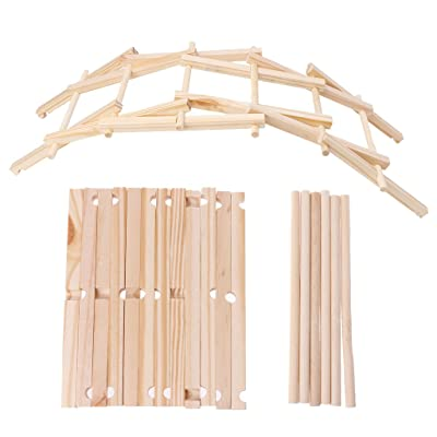 Dabixx Building Blocks, Da Vinci Bridge Pathfinders Modelo de construcción de Madera Kit s Kids Toy - Madera: Hogar