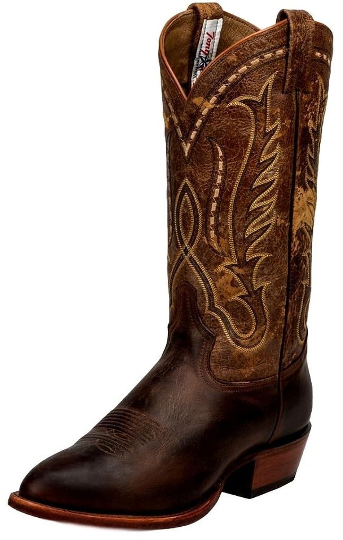 Tony Lama Western Boots Mens Dawson Cowboy Coffee Rustic Tornado CZ4013
