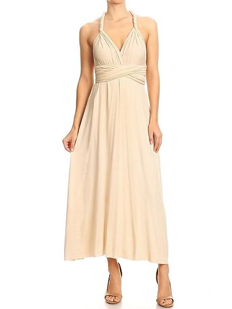 64fa17a01e8 Anna-Kaci Women s Transformer Multi Way Wrap Semi Formal Club Long Midi  Dress