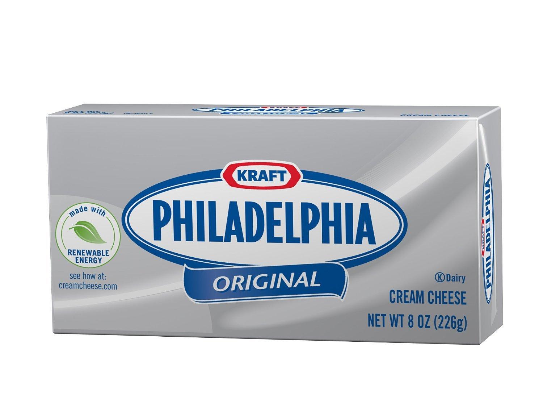 Kraft Philadelphia Original Cream Cheese 8 Oz (6 Pack) by Kraft