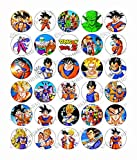 z rice - 30 x Dragon Ball Z Party Edible Rice Wafer Paper Cupcake Toppers