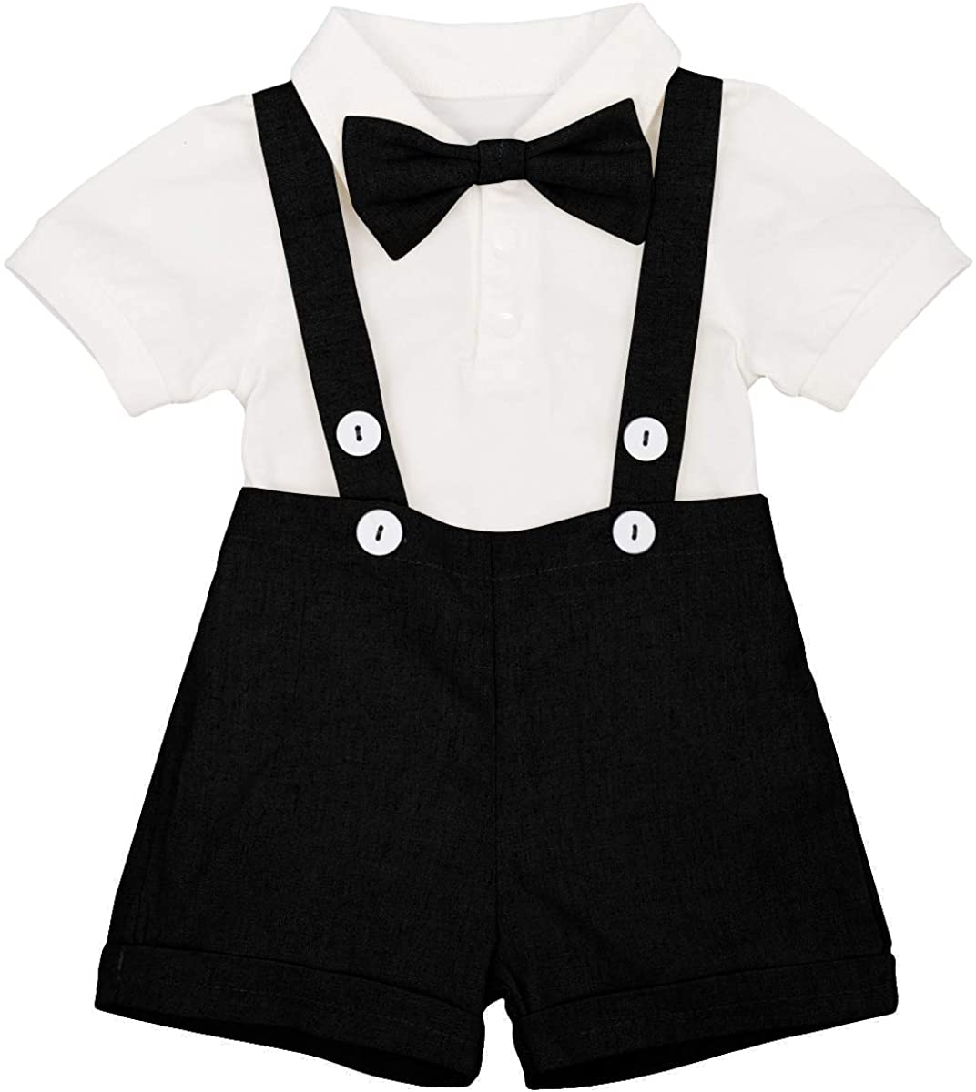 Baby Boys Formal 1st Birthday Onesie Gentleman Outfits Wedding Suit Cake Smash Bowtie Baptism Clothes