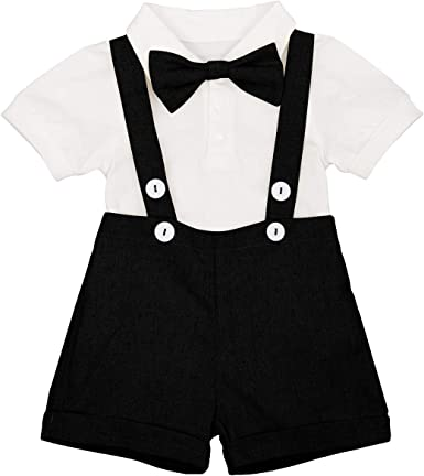 UK Newborn Baby Girls Boy Romper Tops+Bib Short Pants Small Suit Outfits Clothes