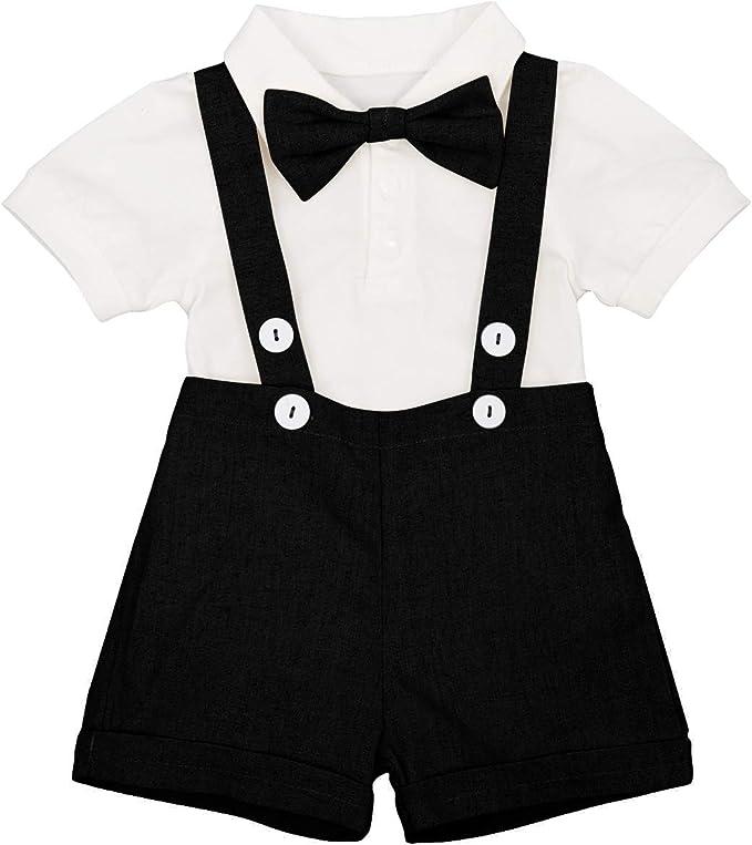 Amazon.com: Bebé Niño Caballero Traje Formal Esmoquin Bowtie ...