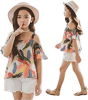 Sasstaids Säuglinge Set Kleinkind Kinder Baby Mädchen Print Strap Beachwear Prinzessin T Shirt Tops Kurze Outfits