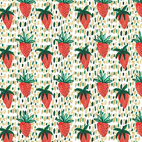 - GRAPHICS & MORE Berry Special Strawberries Premium Roll Gift Wrap Wrapping Paper