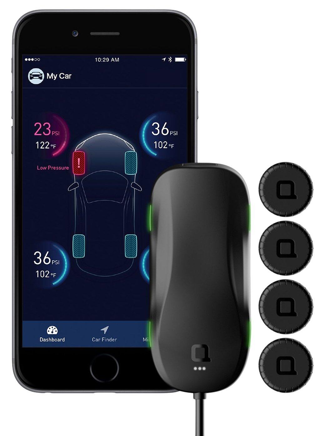 Nonda Zus Smart tire monitor di sicurezza, World' s first Slow rilevatore di perdite con tecnologia Accuratetemp® , dati in tempo reale di pressione dei pneumatici e temperatura, 10 min auto-install, app abilitato TPMS 10min auto-install ZUTMBKR