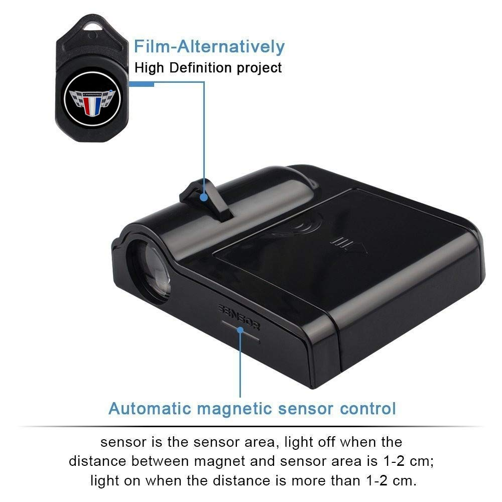 for Camaro Wireless Car Door Led Welcome Laser Projector,No Drill Type Logo Light for Chevrolet Camaro All models etc.