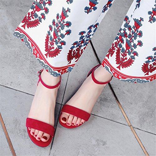 Terrasse Walking und und Damen Strap Sandals Sandalen Shoes Fuß Die Riemen mit Comfort Sandalen Sandalen Women's Sandalette red Shoes Sandals Stilvolle Fett Ring Frau Frau qBtvWfnPf