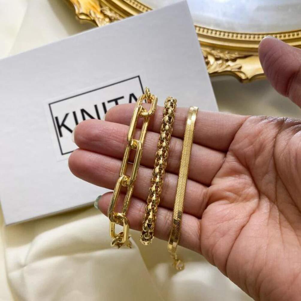 Retro personality snake bone chain multi-layer bracelet creative metal chain bracelet