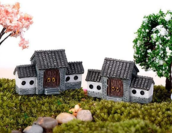 Panchine Da Giardino In Resina.Wansan Miniature Micro Village Houses Fairy Panchina Da Giardino