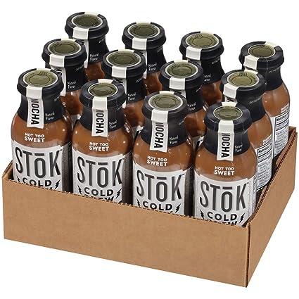 SToK - Cafetera helada de frío, Mocha, botella de 13,7 onzas ...