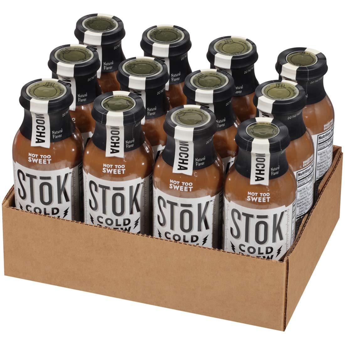 SToK Cold-Brew Iced Coffee, Mocha, 13.7 Ounce, 12 Count