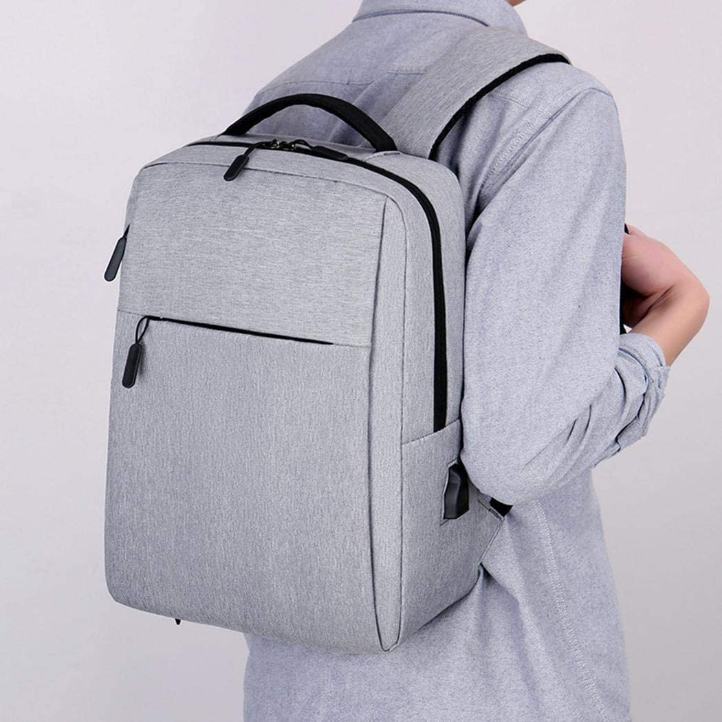 UpBeauty Solid Large Capacity Computer Laptop Backpack with USB Charging Port Backpacks