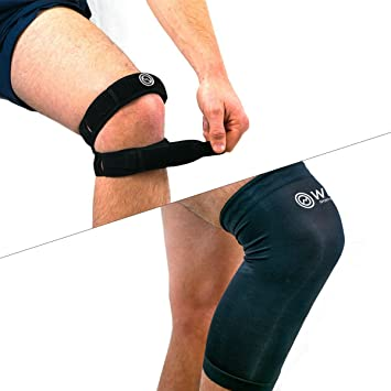 amazon com double patella knee brace stability support system